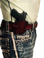 Right Handed Pro-tech Brown Leather Belt Holster For S&w M&p Compact 9mm,40 Cal