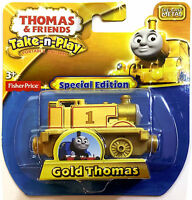 Thomas The Tank & Friends-take N Play Gold Thomas Train Die Cast - Ed -new