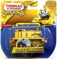 Thomas The Tank & Friends-take N Play Gold Thomas Train Die Cast - Ed -new