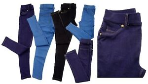 Girls-Kids-Stretchy-Jeans-Jeggings-Denim-Look-Pants-Trousers-Legging-Age-4-13