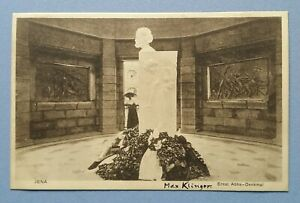 Old-Postcard-Jena-Prof-Ernst-Abbe-Monument-Carl-Zeiss-Square