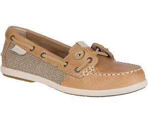 8b1ee3ae819b SPERRY 'Coil Ivy' Ladies Tan Leather/Canvas Boat Shoes Sz. 10 NIB | eBay