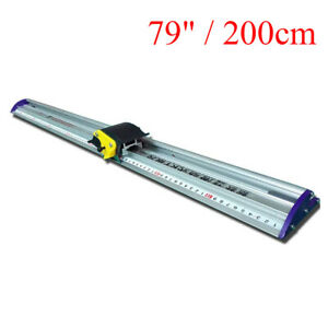 Aluminum Alloy Sliding KT Board Cutting Ruler 70CM for Photo Paper Thin PVC Lamp