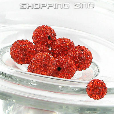 12MM DIY Clay Disco Balls Beads Czech Crystal Shamballa Pave Premium Quality !