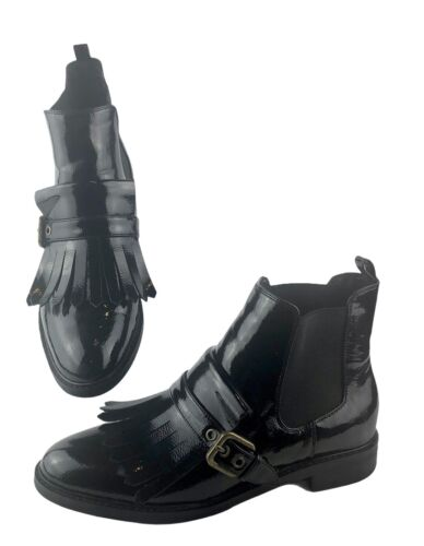 Marc Fisher Brigita Black Patent Leather Kiltie Fr