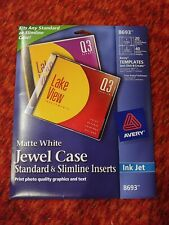 Avery Jewel Case Insert Matte 40 Pack White 8693