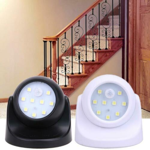 360° Battery Power Motion Sensor LED Light Security Garden Lamp Indoor//Outdoor