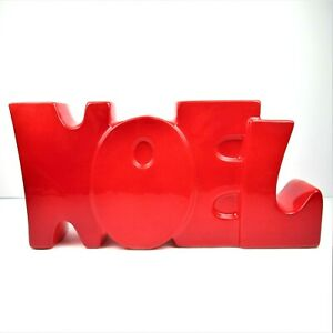 Mann-Japan-Red-Noel-Letter-Candle-Holder-One-Piece-Vintage-Funky-Christmas-Decor
