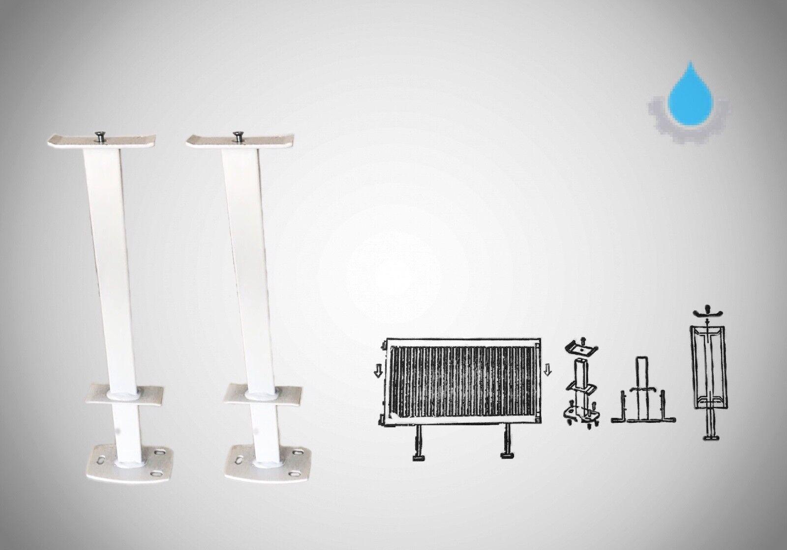 Wandkonsolen Heizkörper Heizung Halterung 300-900 mm 2 x Standfuß Konsole Fuss