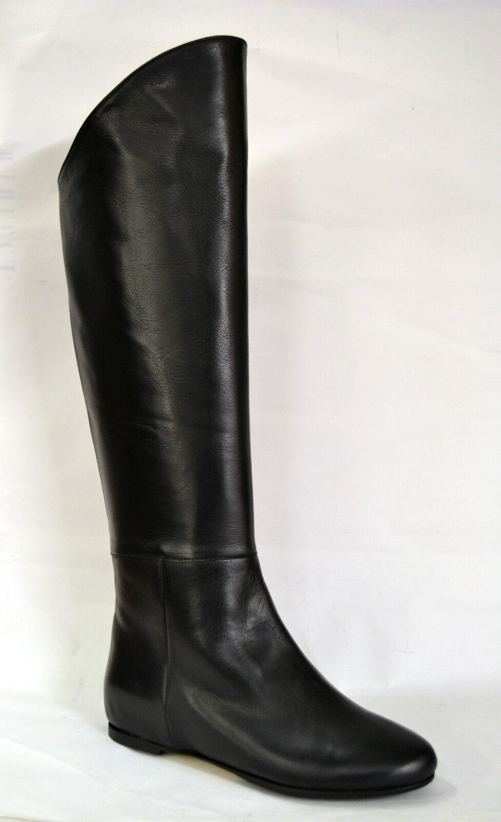 Grandes zapatos con descuento STIVALI DONNA NERO VERA PELLE MADE IN ITALY PRODUZIONE PROPRIA ARTIGIANALI
