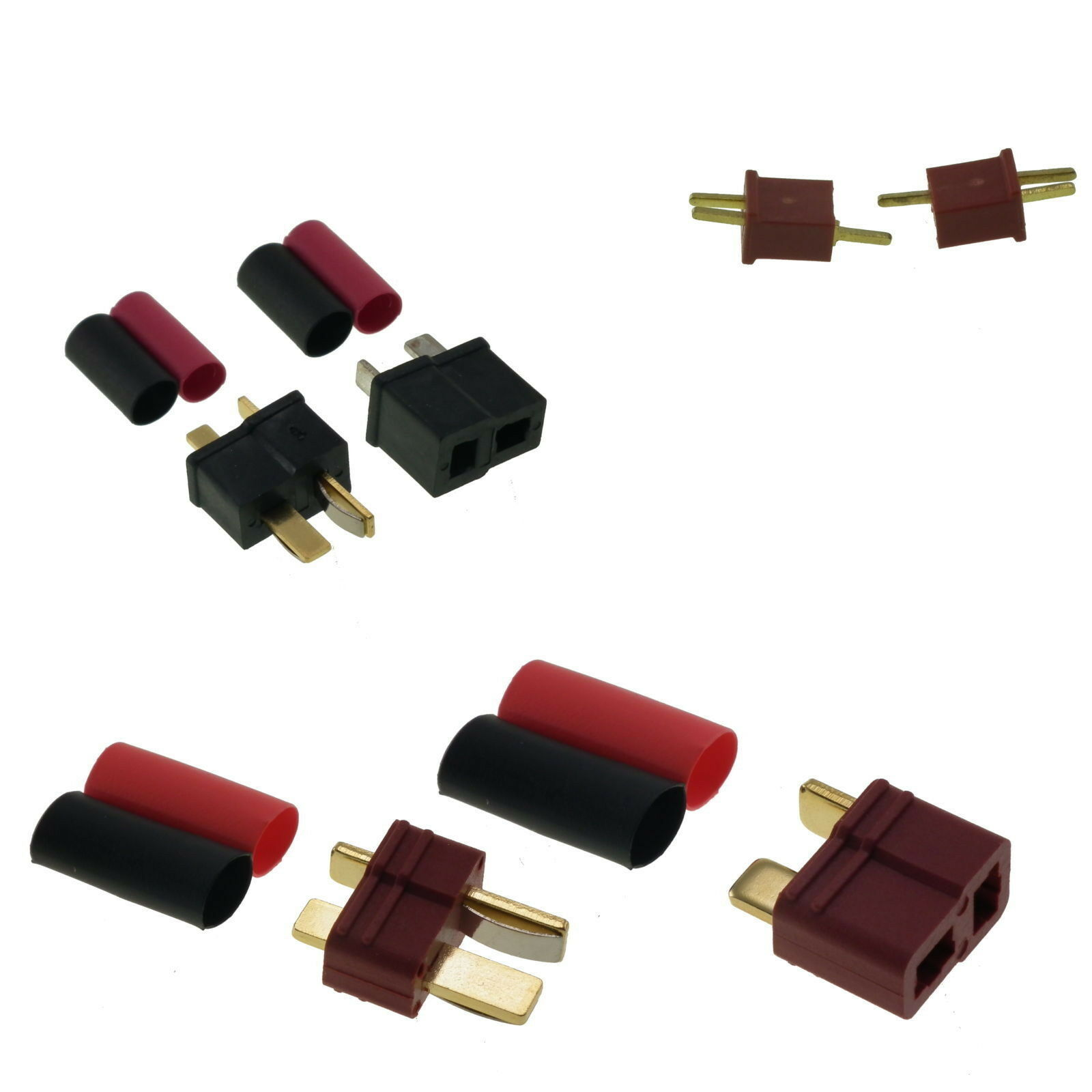 Deans, Mini Deans and Micro Deans Type T Plug RC Connectors UK Seller