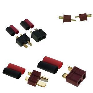 Deans, Mini Deans Et Connecteurs Rc Plug Type Micro T Uk Vendeur