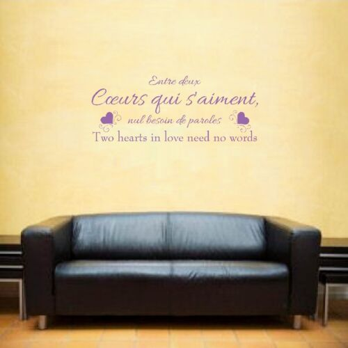 Loving Hearts couers qui saiment french wall art inspirational quote