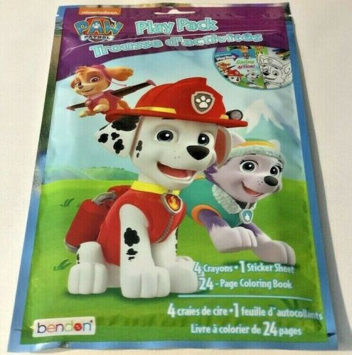 Nickelodeon Paw Patrol Play Pack Grab /& Go!Coloring Book Crayons Stickers Travel