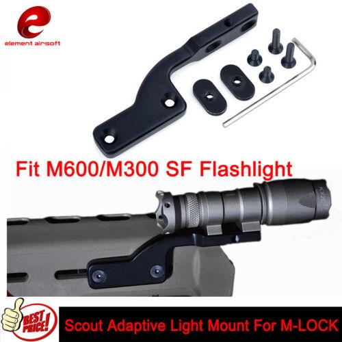 Elemento Airsoft montajes de luz adaptable Scout Fit M600//M300 luz para M-Lok de montaje