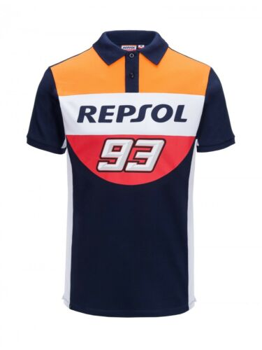 18 18502 Marc Marquez 93 2018 Official Repsol Honda Polo Shirt