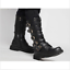Mens Retro Buckle Combat Military Rock Cowboy Mid calf Boots Leather SHoes  YH