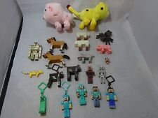 MINECRAFT  Large Lot FIGURES Toys MINI FIGURES Plush KEY CHAINS