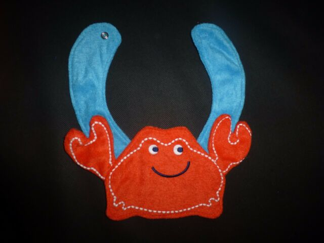 NEW Carter/'s Red Crab Terry Cloth Baby Boys Teething Drool Bib