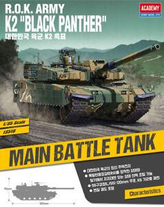 1-35-Scale-13518-R-O-K-ARMY-K2-BLACK-PANTHER-ACADEMY-HOBBY-MODEL-KITS