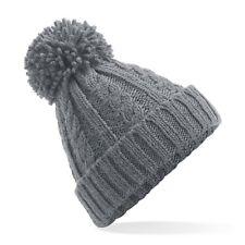 52d527117 Roxy Womens/ladies Dena Fleece Banded Patterned Bobble Beanie Hat ...