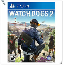 PS4 Watch Dogs 2 SONY PLAYSTATION Ubisoft Games Action