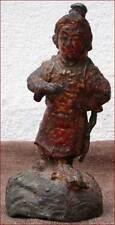 Xian Yu Huang Statue Figure Lacquered Golden Lead Tin Qin Dynasty