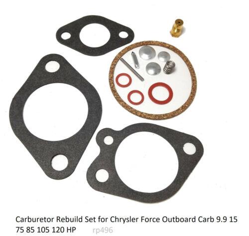 Carburetor Rebuild Set for Chrysler Force Outboard Carb 9.9 15 75 85 105 120 HP