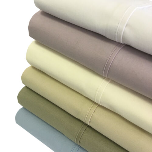 King 4PC 100/% Cotton Soothing and Super Soft Deep Pocket Percale Sheets Set