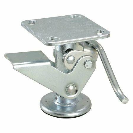 H,4 X 4-1//2 Zoro Select 16V371 Floor Lock,Plate,6 In
