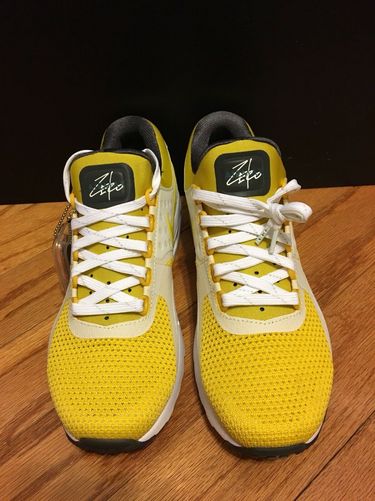 Nike Air Max Zero QS Sulfur Yellow 789695-100 SIZE 8 Tinker Hatfield Sketch
