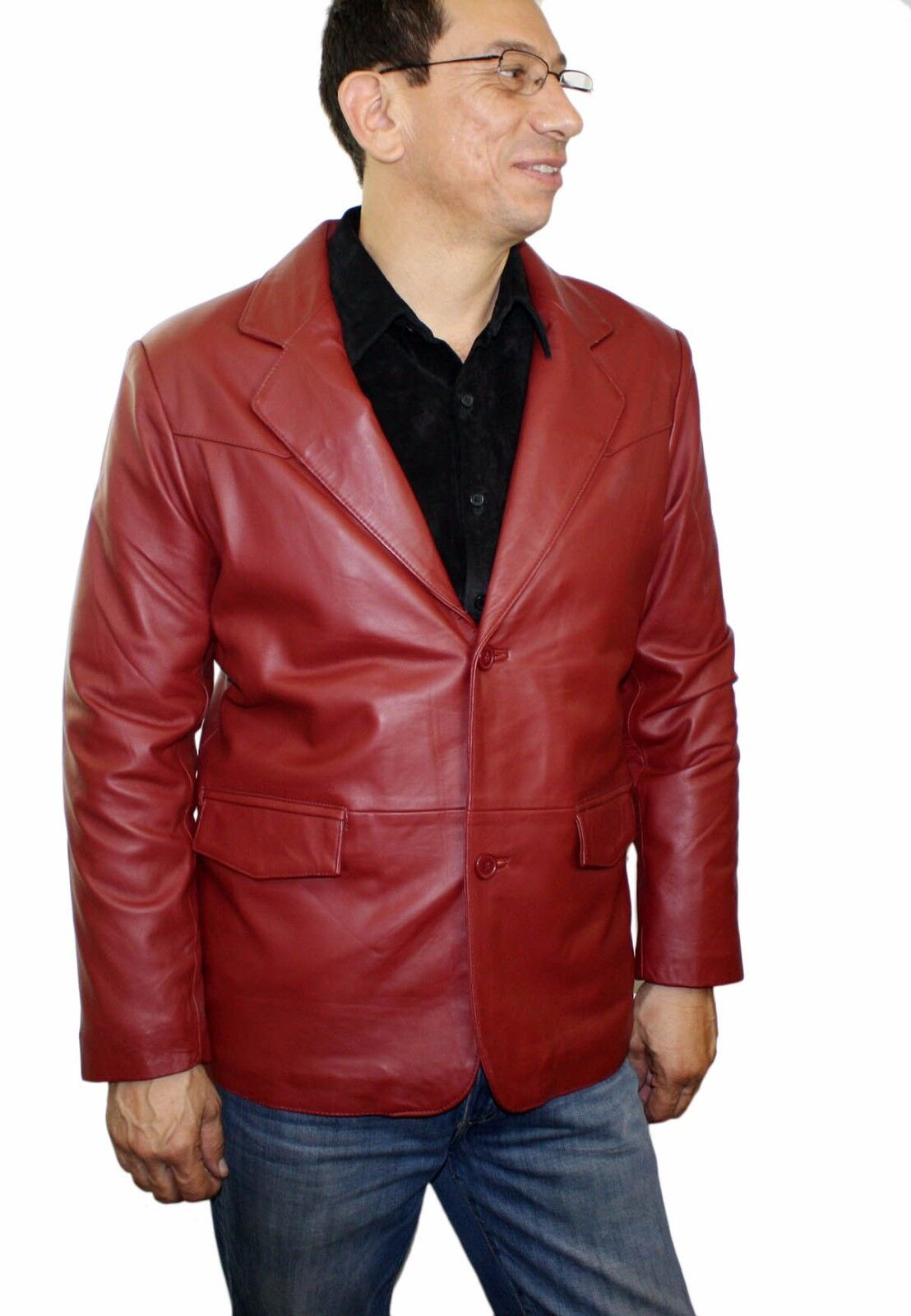 Men's Genuine Lamb Leather Western Cowboy Blazer Style LM 538