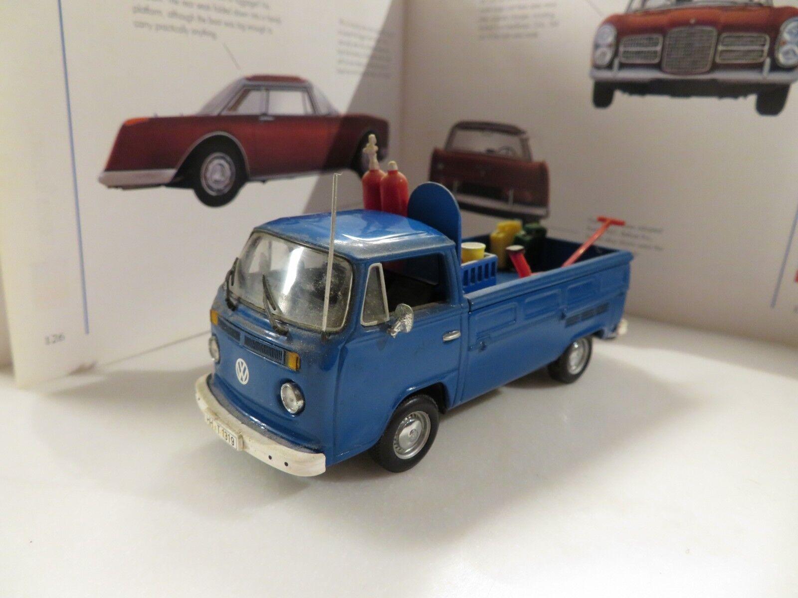 1 43 Minichamps VW Volkswagen T2 diecast bluee