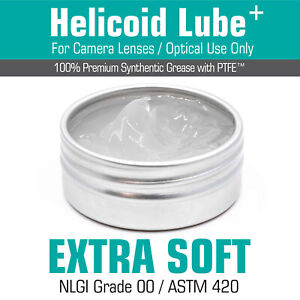 Helicoid Grease -EXTRA SOFT- 5ml/15ml for Camera Lens Servicing MADE IN UK