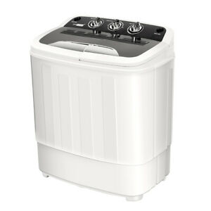 VIVOHOME-2in1-Portable-Mini-Washing-Machine-Compact-Twin-Tub-Washer-Spin-Dryer