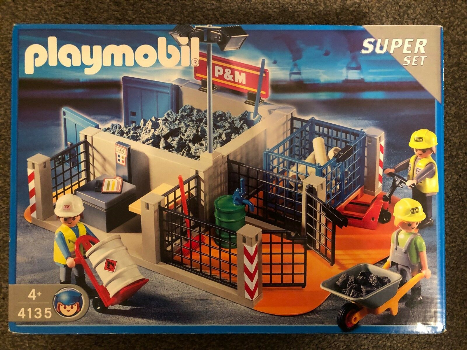 Playmobil 4135 CONSTRUCTION SUPER SET New & Sealed