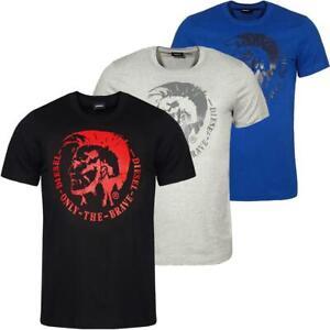 DIESEL-T-Head-PS-Herren-T-Shirt-Mohawk-Tee-Shirt-Kurzarm
