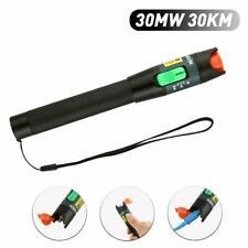 Visual Fault Locator 30mw 30km Vfl Pen Fiber Optic Cable Tester Black