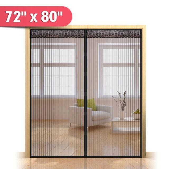 72 W X 80 H Hands Magnetic Screen Door For French Doors 712318358277