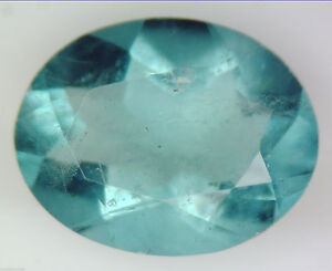 1.72 CT 100% NATURAL GREEN FLUORITE OVAL FACETED CUT GEMSTONE 6 X 8 MM LOOSE