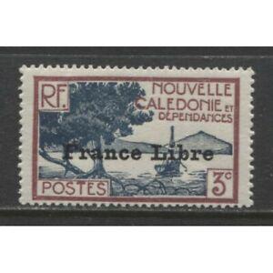 """1941 Nouvelle-calédonie 3 C Avec """"france Libre"""" Op Comme Neuf *, Yvert # 197, $16.00-afficher Le Titre D'origine TrèS Poli"""