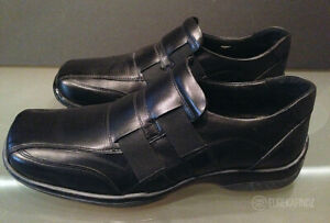 aldo untitled black leather slip on casual dress shoes