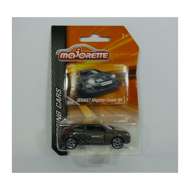 Majorette 212084009 RENAULT MEGANE COUPE N4 Gray - Racing Cars 1:64 NEW! °