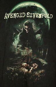AVENGED-SEVENFOLD-Nightmare-Album-T-Shirt-LARGE-Black-Music-Rock-Metal