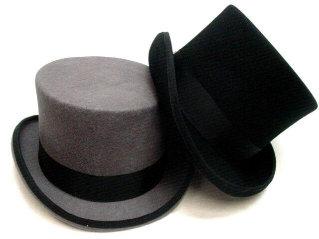 Top Hat Navy Blue English Gentleman Silk Band Opera Topper New S M L XL