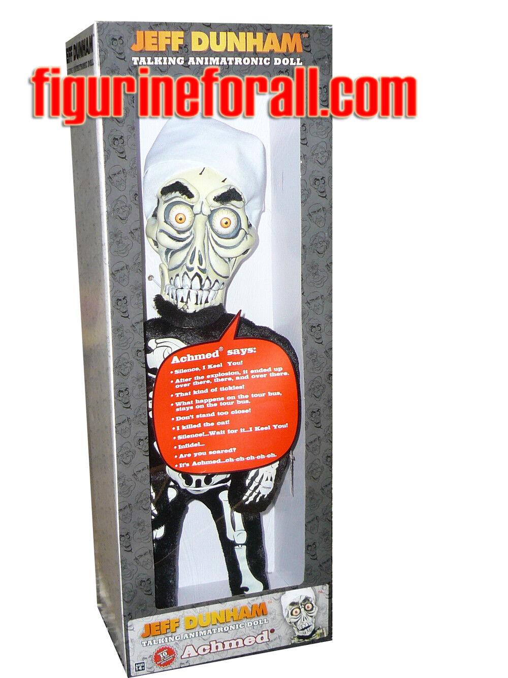 NECA Jeff Dunham Achmed 18  Animatronic hablando Muñeca de Peluche Figura En Stock