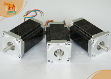 【USA Ship】3 PCS DUAL SHAFT NEMA34 STEP MOTOR 1600OZ-IN,3.5A CNC