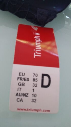 70C neu OVP 70D lt Etikett bzw Triumph Bügel BH Lovely Dots dunkelblau Gr