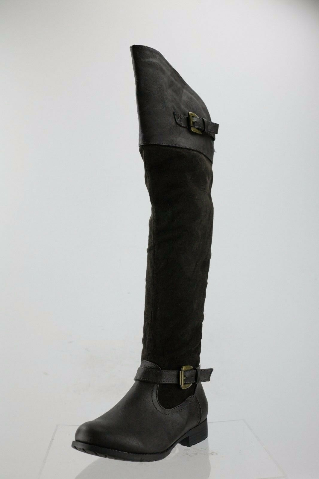 Women's Bucco Tinlee Brown Leather/Suede Over the Knee Boots Size 7 M
