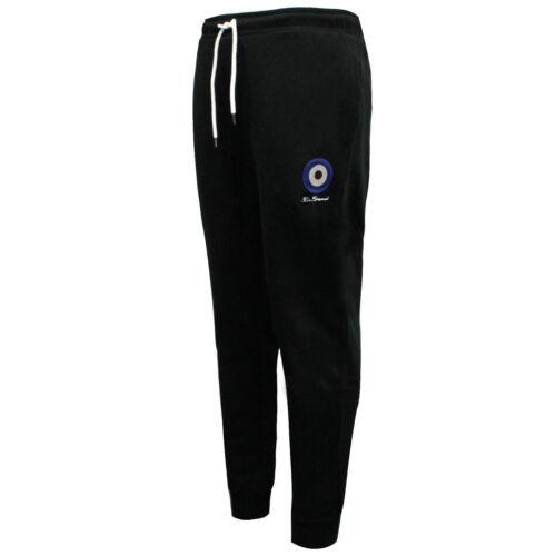 Ben Sherman Mens Joggers Casual Track Pants Bottoms Black 0058691-BLK WHA